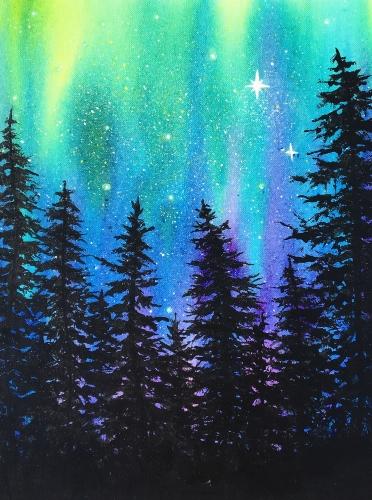 Paint Nite - Aurora Splash