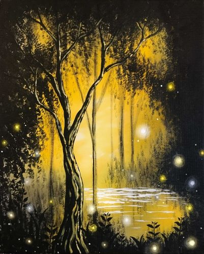 Paint Nite - Forest Magic