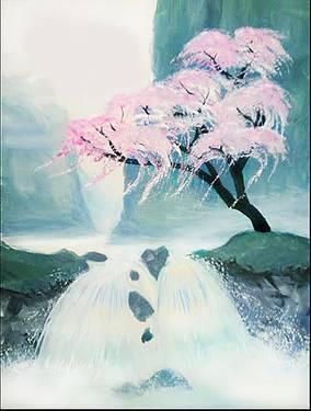 Paint Nite - Mystical Cherry Blossom