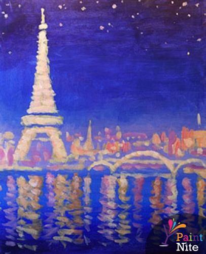 Paint Nite - Paris Lights