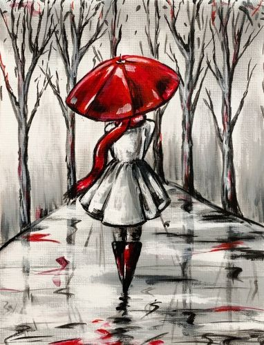 Paint Nite - Red Umbrella II