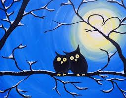 Paint Nite - Winter Owls