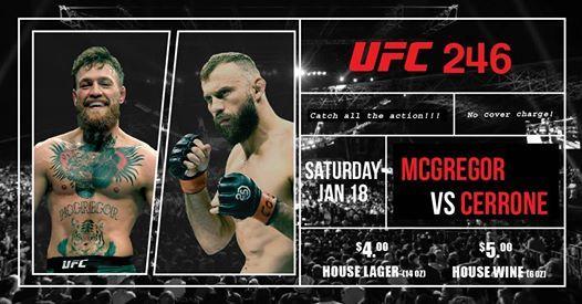 UFC 246 - McGregor vs Cerrone
